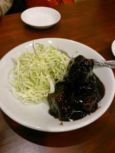 豚肉黒酢炒め