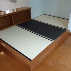 機械すき和紙畳表ダイケン銀白「乳白色」「栗色」N.M様邸
