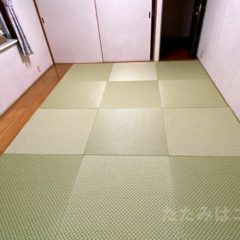 機械すき和紙畳表ダイケン銀白市松「銀白色×若草色」H.M様